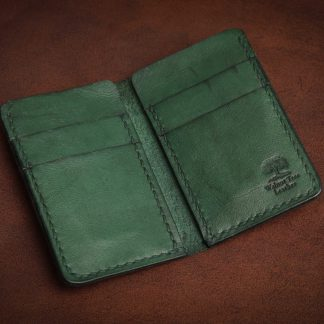 Bath handmade leather wallet